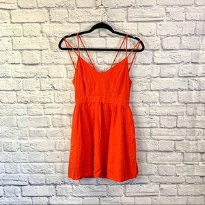 Forever 21 Coral Orange Strappy Sun Dress